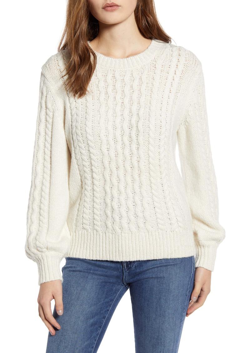 Velvet by Graham & Spencer Cable Knit Pullover