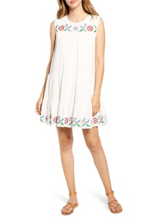 Velvet by Graham & Spencer Cabo Embroidered Cotton Swing Dress