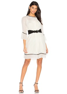 Velvet by Graham & Spencer Caia Pintuck Dress in Cream. - size L (also in M,S,XS)