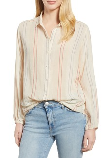 Velvet by Graham & Spencer Calico Stripe Button Up Blouse