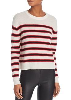 Velvet by Graham & Spencer Carmel Striped Cashmere Sweater