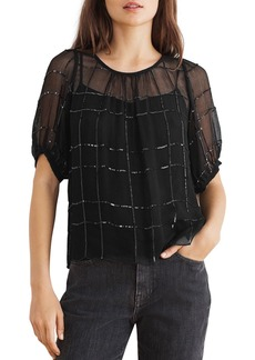 Velvet by Graham & Spencer Cecilia Sequined Top