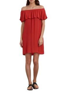 velvet BY GRAHAM & SPENCER Chevron Off-The-Shoulder Dress