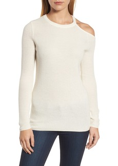 Velvet by Graham & Spencer Cold Shoulder Cashmere Sweater