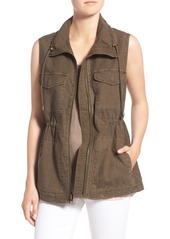 Velvet by Graham & Spencer Cotton & Linen Military Vest