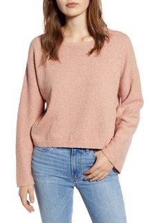 Velvet by Graham & Spencer Cotton Bouclé Sweater