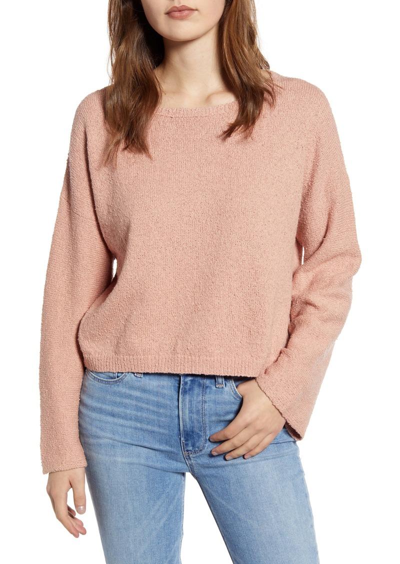 Velvet by Graham & Spencer Cotton Bouclé Sweater
