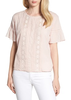 Velvet by Graham & Spencer Cotton Lace Blouse