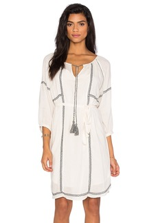 Velvet by Graham & Spencer Cristal Embroidered Crepe Shift Dress