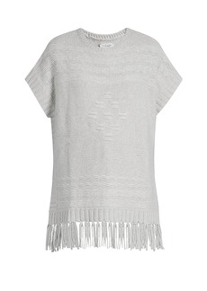 Velvet By Graham & Spencer Destinee fringed poncho