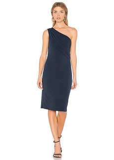 Velvet by Graham & Spencer Elly One Shoulder Dress in Navy. - size M (also in S,XS)