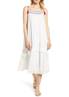 Velvet by Graham & Spencer Embroidered Gauze Midi Dress