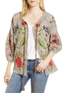 Velvet by Graham & Spencer Embroidered Stripe Jacket