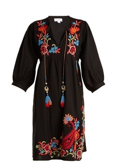 Velvet By Graham & Spencer Emilie embroidered linen dress