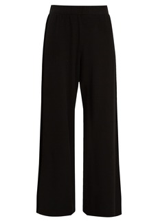 Velvet By Graham & Spencer Emily velvet-panel wide-leg jersey trousers