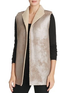 Velvet by Graham & Spencer Faux Sherpa Metallic Vest