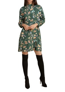 Velvet by Graham & Spencer Floral Print A-Line Dress