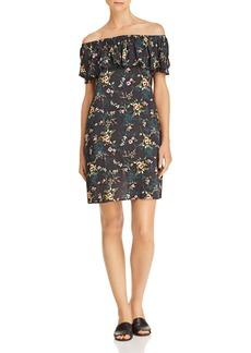 Velvet by Graham & Spencer Floral Print Off-the-Shoulder Dress