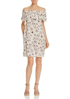 Velvet by Graham & Spencer Floral Print Off-the-Shoulder Dress