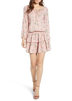 Velvet by Graham & Spencer Floral Print Ruffle Minidress