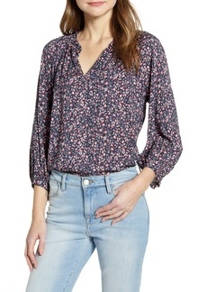Velvet by Graham & Spencer Floral Split Neck Blouse