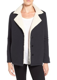 Velvet by Graham & Spencer French Terry Jacket with Faux Shearling Lining