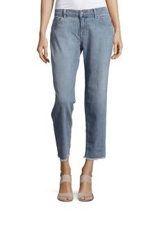 velvet BY GRAHAM & SPENCER Fringed Cuff Boyfriend Jeans