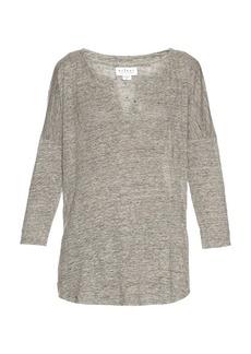 Velvet By Graham & Spencer Genesis linen T-shirt