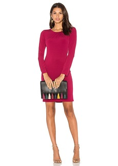 Velvet by Graham & Spencer Hester Long Sleeve Bodycon Dress in Fuchsia. - size M (also in L,S)