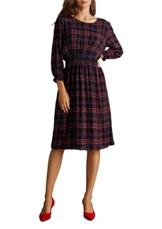 Velvet by Graham & Spencer Isabella Smocked Plaid Dress