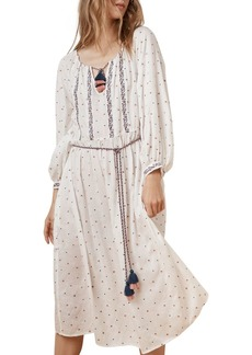 Velvet by Graham & Spencer Isilda Embroidered Peasant Dress