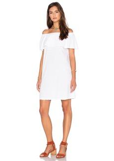 Velvet by Graham & Spencer Ithaca Cotton Slub Off The Shoulder Dress