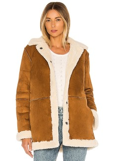 Velvet by Graham & Spencer Kailani Faux Suede Sherpa Coat