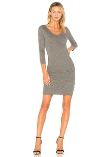 Velvet by Graham & Spencer Kesha Midi Dress in Gray. - size L (also in M,S,XS)