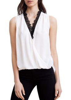 Velvet by Graham & Spencer Lace-Trim Crossover Top