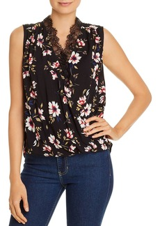 Velvet by Graham & Spencer Lacy Floral Crossover Top