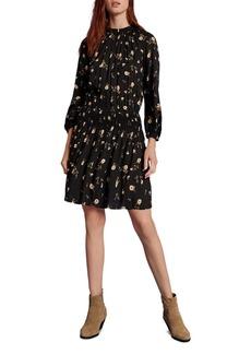 Velvet by Graham & Spencer Leslie Floral Smocked-Waist Dress