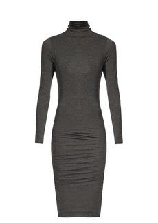 Velvet By Graham & Spencer Lordes ruched-side high-neck dress