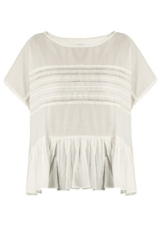 Velvet By Graham & Spencer Madi ruffled-hem cotton-voile top
