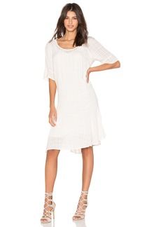 Velvet by Graham & Spencer Maryann Windowpane Challis with Slub Shift Dress