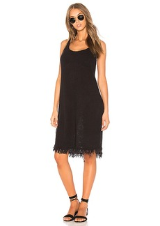 Velvet by Graham & Spencer Meg Crochet Tank Dress in Black. - size L (also in M,S,XS)