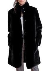 Velvet by Graham & Spencer Mina Reversible Faux Shearling Coat