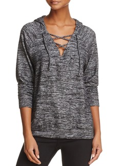 Velvet by Graham & Spencer Moira Lace-Up Hooded Sweatshirt - 100% Exclusive