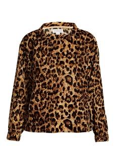 Velvet By Graham & Spencer Moselle leopard-print velvet top