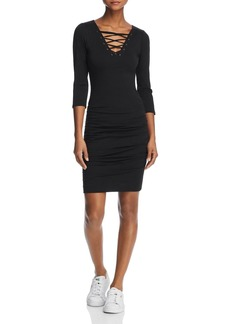 Velvet by Graham & Spencer Odessa Lace-Up Ruched Dress