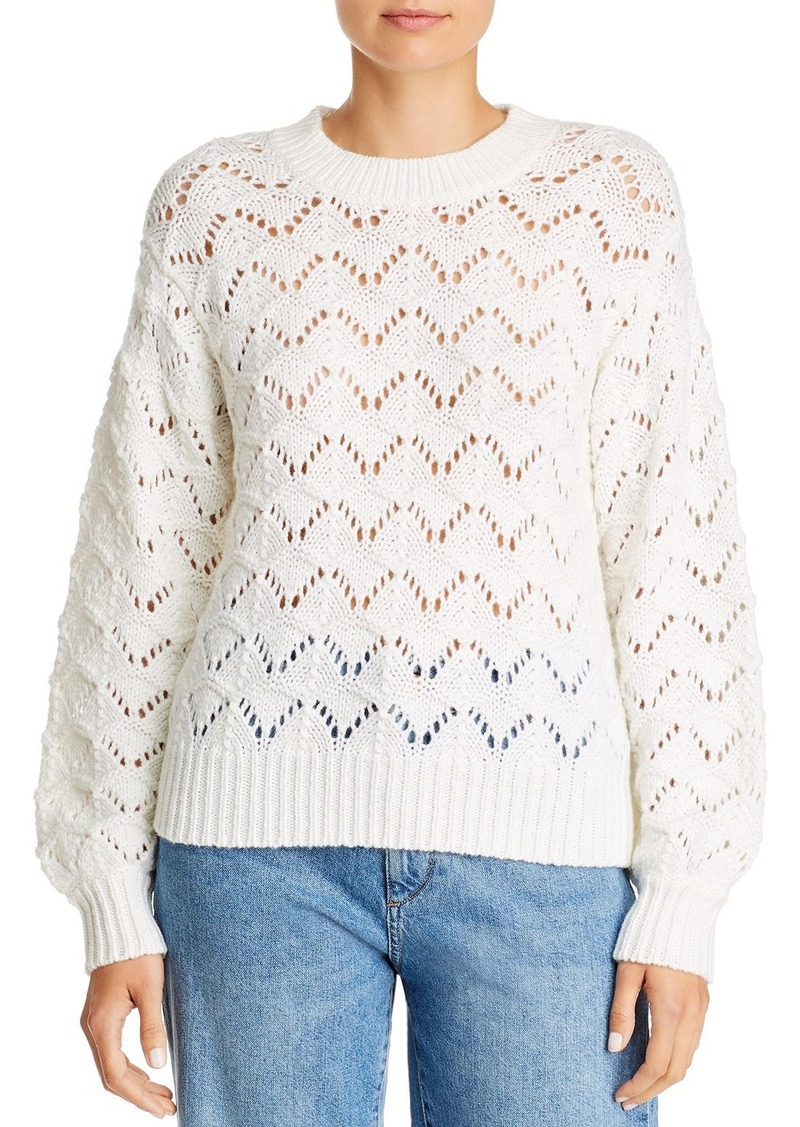 Velvet by Graham & Spencer Openwork Pointelle Sweater - 100% Exclusive