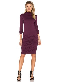 Velvet by Graham & Spencer Pietro Turtleneck Midi Dress in Wine. - size M (also in S,XS)
