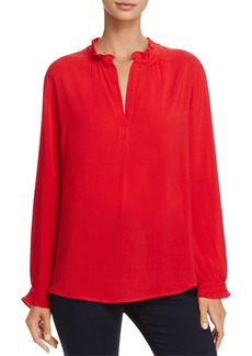 Velvet by Graham & Spencer Pila Ruffled-Neck Tunic