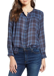 Velvet by Graham & Spencer Plaid Blouse