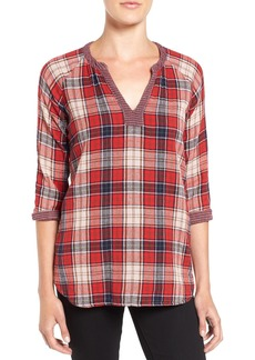 Velvet by Graham & Spencer Plaid Cotton Shirt